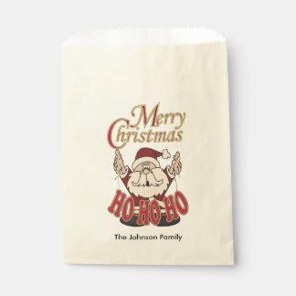 Felices Navidad Papá Noel Bolsa De Papel