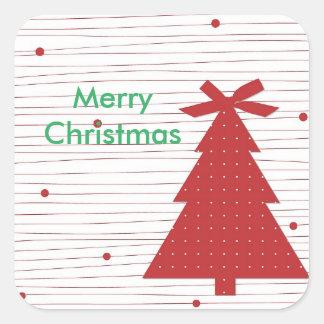Felices Navidad, pegatina del árbol de navidad