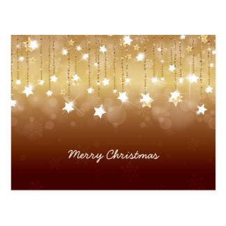 Felices Navidad que giran las estrellas 3 Postal