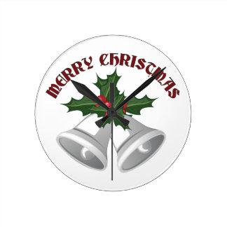 Felices Navidad Reloj Redondo Mediano