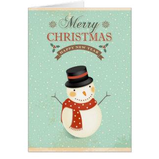 Felices Navidad retras de la Feliz Año Nuevo de Tarjeta De Felicitación