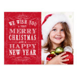 Felices Navidad rojas, foto de la Feliz Año Nuevo Postal