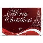 Felices Navidad rojas Tarjeta