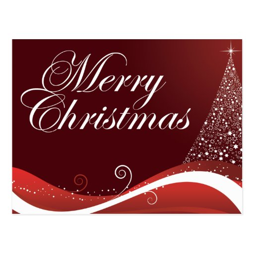 Felices Navidad rojas Tarjeta Postal