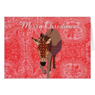 Felices Navidad rojos de Moses que saludan Tarjeta De Felicitación