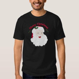 Felices Navidad Santa del vintage Camisetas