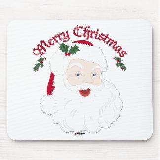 Felices Navidad Santa - escritura del vintage Alfombrilla De Ratón
