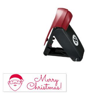 Felices Navidad Santa Sello De Bolsillo