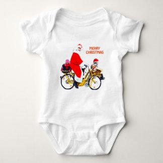 Felices Navidad Santa y niños Body Para Bebé
