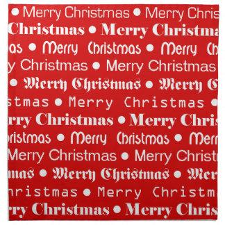 Felices Navidad Servilleta De Tela