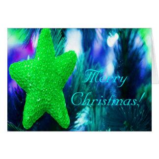 Felices Navidad STAR-II verde Tarjeta De Felicitación