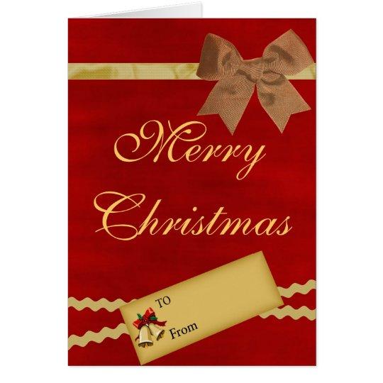 Felices Navidad - tarjeta del libro de recuerdos