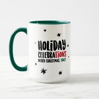 Felices Navidad, taza de Yinz
