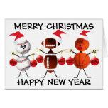 Felices Navidad todos los deportes Tarjetón