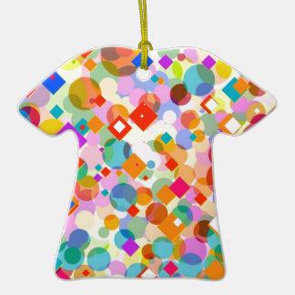 ¡Felices Navidad! - Triángulo y modelo de punto Adorno De Cerámica En Forma De Camiseta