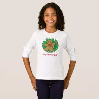 Felices Navidad usted camiseta del bastón del pan