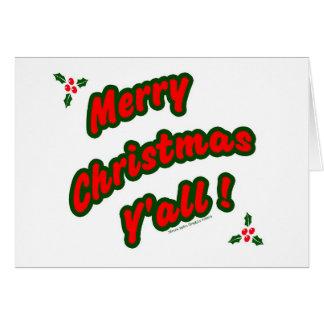 ¡Felices Navidad usted! Tarjeta