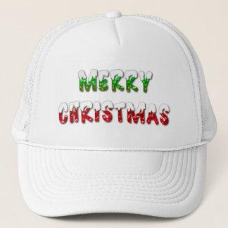 Felices Navidad verdes y rojo con el gorra del