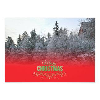 Felices Navidad y Feliz Año Nuevo Editable Invitación 12,7 X 17,8 Cm