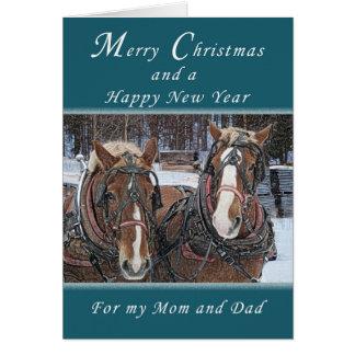 Felices Navidad y Feliz Año Nuevo, padres Tarjeta De Felicitación