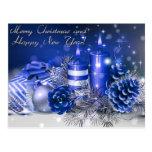 Felices Navidad y Feliz Año Nuevo Postal