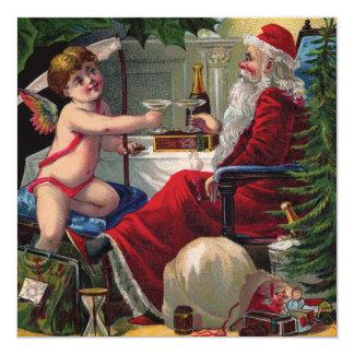 Felices Navidad y invitación de la Feliz Año Nuevo