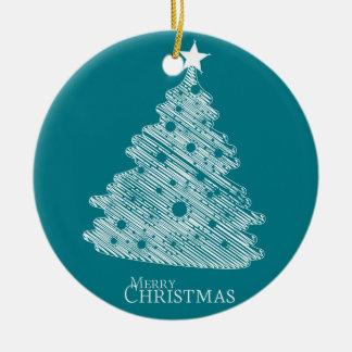 Felices Navidad y newyear feliz Adorno Navideño Redondo De Cerámica