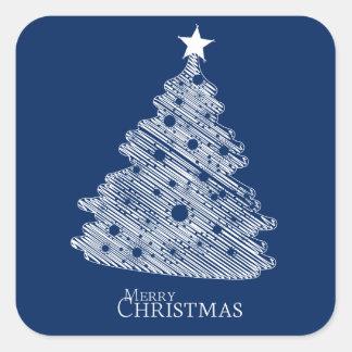 Felices Navidad y newyear feliz Pegatina Cuadrada