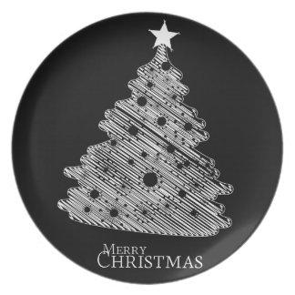 Felices Navidad y newyear feliz Plato