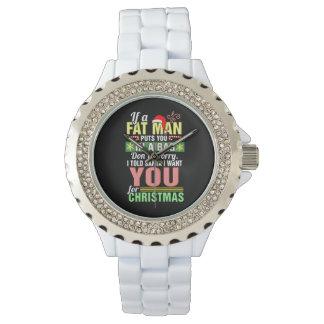 Felices Navidad y Papá Noel Reloj