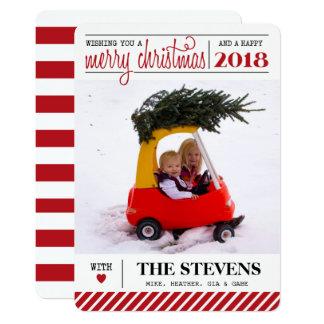 Felices Navidad y tarjeta del día de fiesta de la Invitación 12,7 X 17,8 Cm