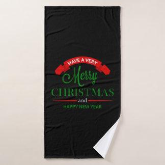 Felices Navidad y toalla de la Feliz Año Nuevo