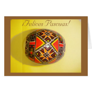 ¡¡Felices Pascuas! Saludo español pintado 4 del hu Tarjeta