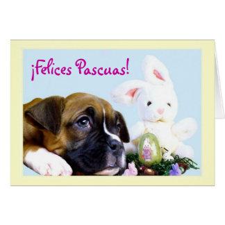 Felices Pascuas Tarjeta de Boxer