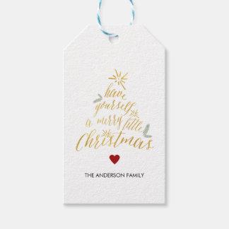 Felices pequeñas etiquetas del regalo del navidad etiquetas para regalos