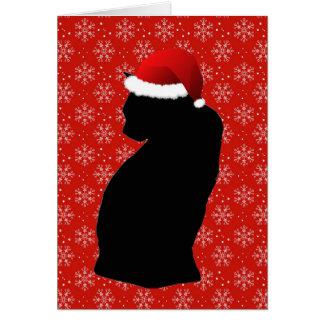 Felices pequeñas tarjetas del gato del navidad