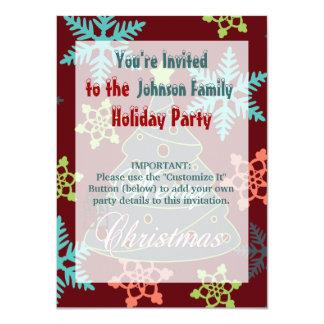 Felices regalos de vacaciones de los copos de invitación 11,4 x 15,8 cm