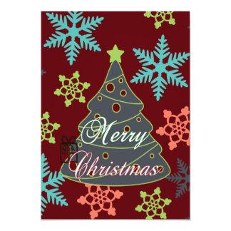 Felices regalos de vacaciones de los copos de invitación 12,7 x 17,8 cm