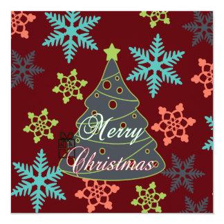 Felices regalos de vacaciones de los copos de invitación 13,3 cm x 13,3cm
