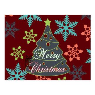 Felices regalos de vacaciones de los copos de niev tarjetas postales