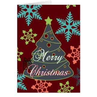 Felices regalos de vacaciones de los copos de tarjeta de felicitación