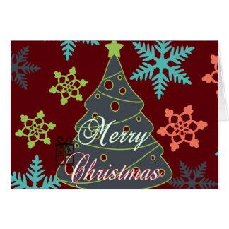 Felices regalos de vacaciones de los copos de tarjeta pequeña