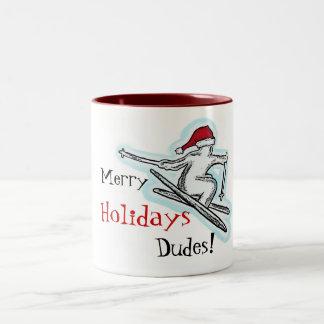 ¡Felices tipos de los días de fiesta taza de café