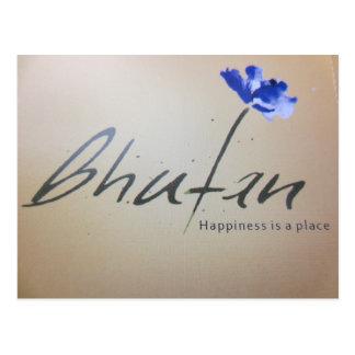 felicidad de Bhután Postal