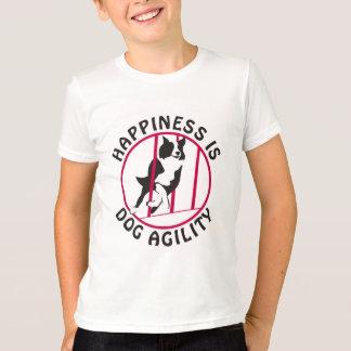 Felicidad de la agilidad de postes del border camiseta