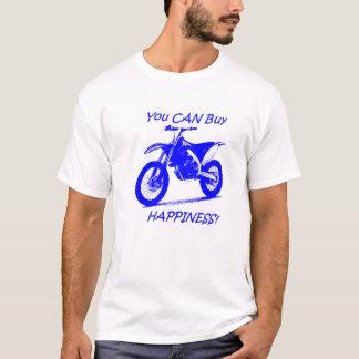 Felicidad de la compra - azul en blanco camiseta