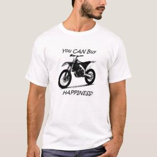 Felicidad de la compra - negro en blanco camiseta