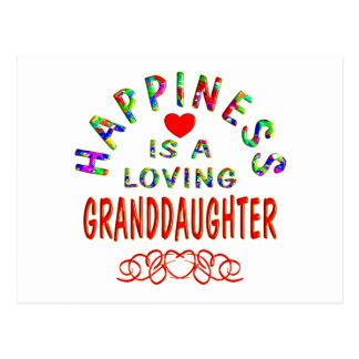 Felicidad de la nieta postal