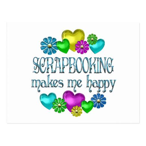 Felicidad de Scrapbooking Tarjetas Postales