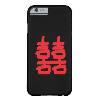 Felicidad doble en caja roja funda de iPhone 6 barely there